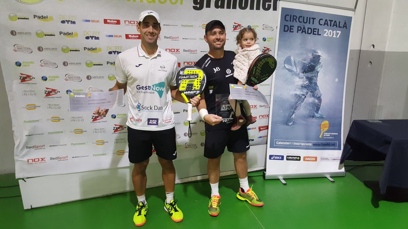 CAMPIONS MASCULINS OR PADEL INDOOR GRANOLLERS